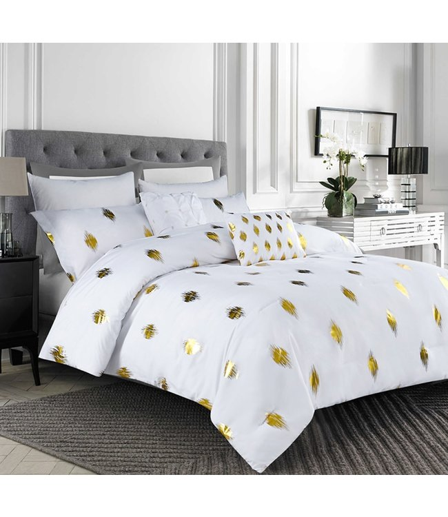 *4pc ARIEL COMFORTER SET TWIN GOLD (MP2)