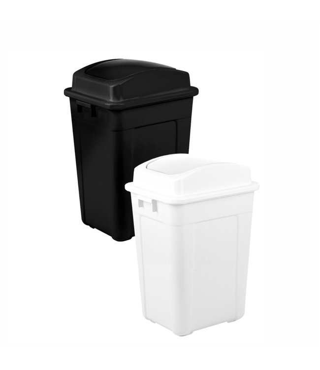 MAISON CONDELLE PLASTIC WASTE BIN w/FLP LID (MP6)
