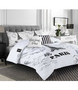 RAPHAEL PARIS COMFORTER SET BLACK/WHITE (MP2)
