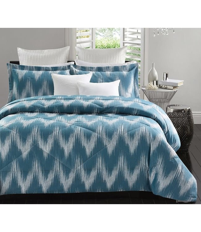EMMELINE 5pc JACQUARD COMFORTER SET SLATE (MP2)
