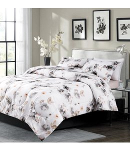 ROSALIE COMFORTER SET GREY (MP2)