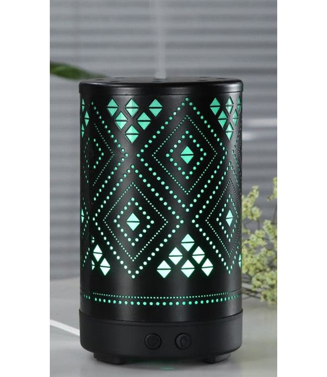 LAUREN TAYLOR COLOUR CHANGING LED DIAMOND DIFFUSER BLACK (MP8) 100ml