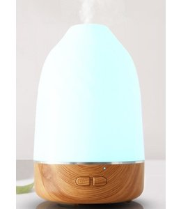 LAUREN TAYLOR COLOUR CHANGING LED DIFFUSER WHITE/BAMBOO (MP8) 100ml