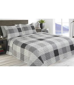 FELIX BUFFALO PLAID QUILT SET GREY (MP2)