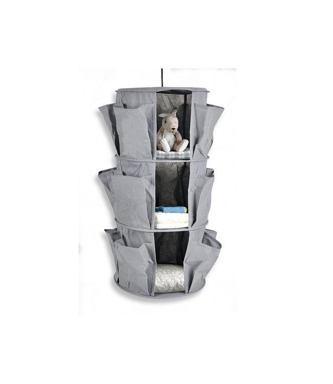ADRIEN LEWIS 3 TIER HANGING CLOSET ORGANIZER w/POCKETS (MP6)