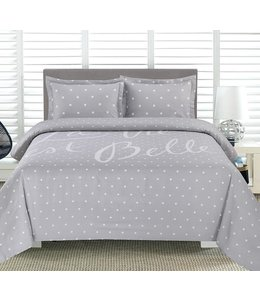 ADRIEN LEWIS *LA VIE EST BELLE PRINTED DUVET COVER SET GREY (MP2)