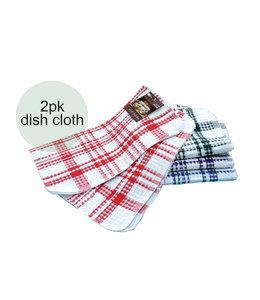 2pk CHECKERED JUMBO DISH CLOTH AST 14X14 (MP144)