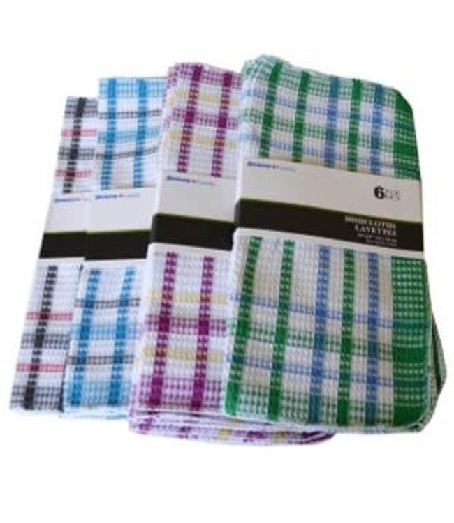 6pk WAFFLE DISH CLOTH AST 13X13 (MP24)