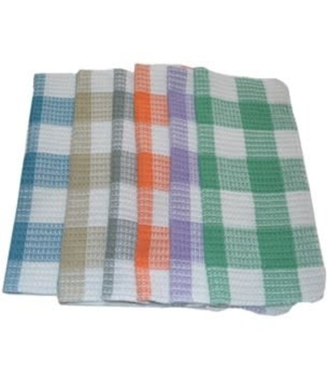 "GINGHAM DISH CLOTH AST 14X14"" (MP48)"