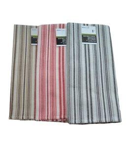 """STRIPE KITCHEN TOWEL AST (BEIGE/RED/GREY) 23X32"""" (MP144)"""