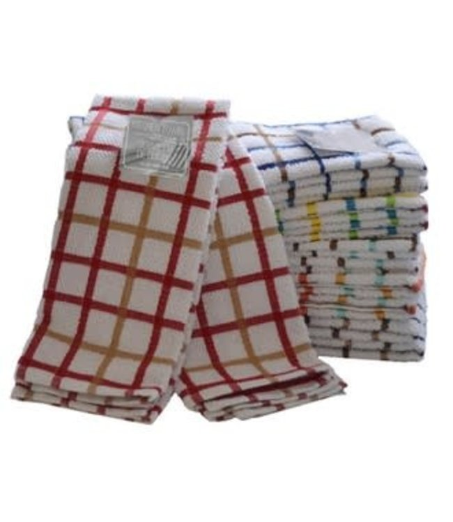"TERRY 2PK CHECK KITCHEN TOWEL AST 15X26"" (MP48)"