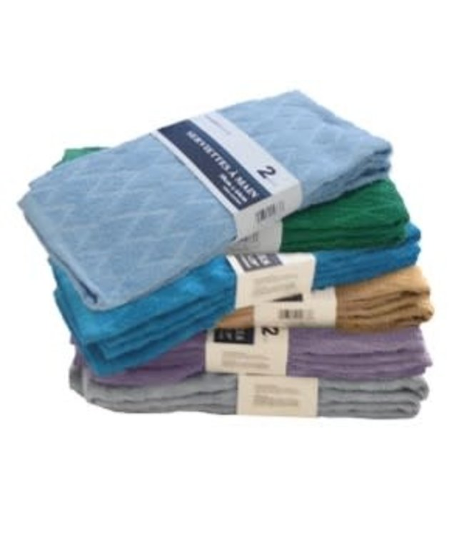DIAMOND JACQUARD TOWELS AST (MP24)