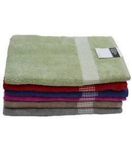 POLKA DOT BORDER TOWELS