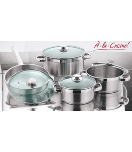 A LA CUISINE *8PC STAINLESS STEEL COOKWARE SET (MP2)