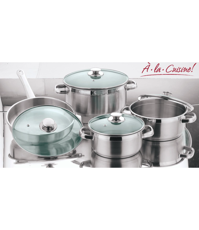 A LA CUISINE 8PC STAINLESS STEEL COOKWARWE SET (MP2)