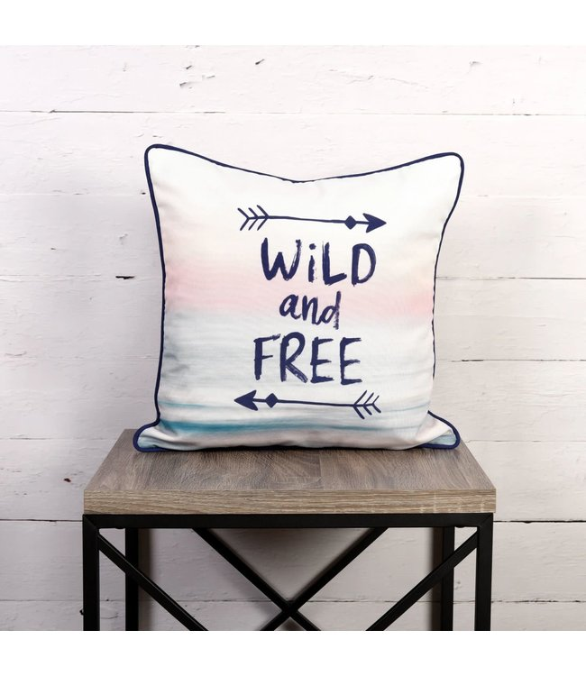 "OUTDOOR CUSHION 18X18"" (MP6) WILD AND FREE"
