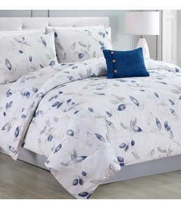 LAUREN TAYLOR *MIRABEL COMFORTER SET BLUE (MP2)