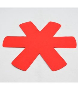 A LA CUISINE 2pk FELT KITCHEN PADS RED (MP36)