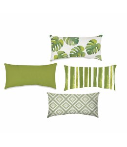 "SOL DE MARE ISLAND LIVING COLLECTION LUMBAR CUSHIONS AST 13X19"" (MP12)"