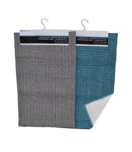 "CHENILLE BRAIDED BATH MAT AST 20X30"" (MP12)"