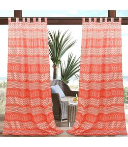 "SOL DE MARE PARADISIO OUTDOOR CURTAIN 52X90"" RED (MP12)"