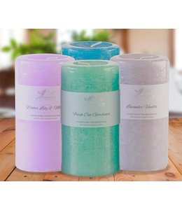 "BELLE AROMA SCENTED PILLAR CANDLES AST 2.75X5"" (MP12)"