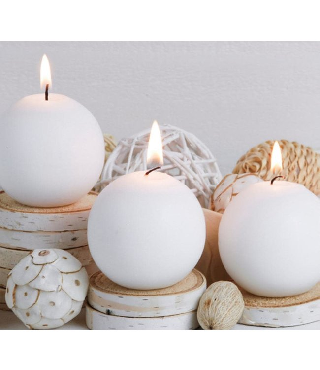 "BELLE AROMA CANDLE BALL AST 7X7"" (MP48)"
