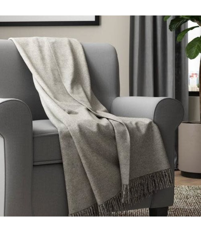 "LAYLA ACRYLIC KNIT FRINGED THROW 50X60"" (MP6)"