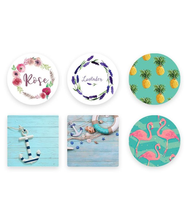 ADRIEN LEWIS SET OF 4 COASTERS SUMMER AST (MP24)