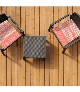 "SOL DE MARE PARADISIO 2pk CHAIR PAD RED 17X17"" (MP8)"