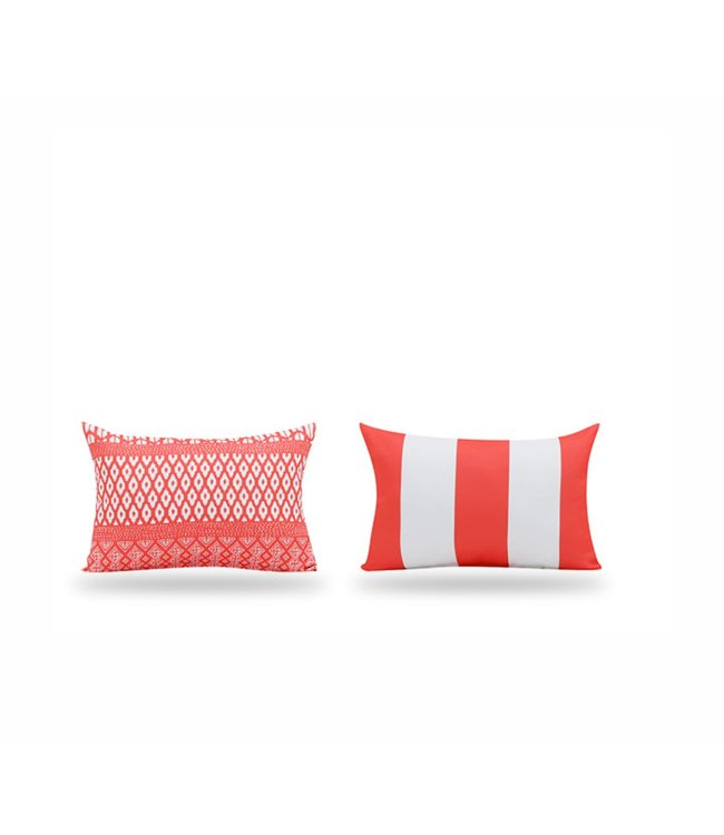 "SOL DE MARE PARADISIO LUMBAR CUSHION RED 13X19"" (MP12)"
