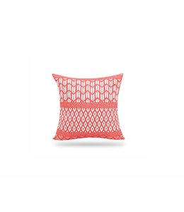 "SOL DE MARE PARADISIO SQUARE CUSHION RED 17X17"" (MP12)"