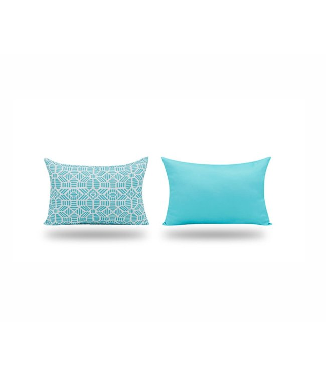 "SOL DE MARE ROSCO LUMBAR CUSHION TEAL 13X19"" (MP12)"