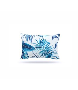 "SOL DE MARE PALM LEAF LUMBAR CUSHION BLUE 13X19"" (MP12)"