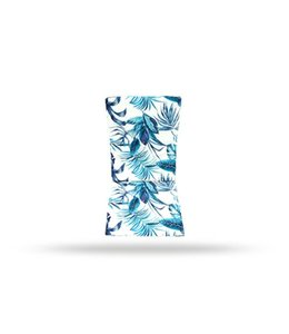 "SOL DE MARE PALM LEAF HIGH BACK CHAIR PAD BLUE 42X17"" (MP8)"