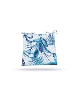"SOL DE MARE PALM LEAF 2pk CHAIR PAD BLUE 17X17"" (MP8)"