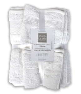 ADRIEN LEWIS *6Pc EGYPTIAN COTTON TOWEL SET