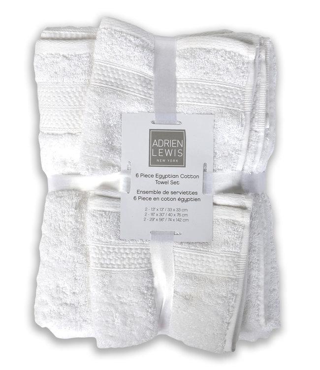 ADRIEN LEWIS *6Pc EGYPTIAN COTTON TOWEL SET