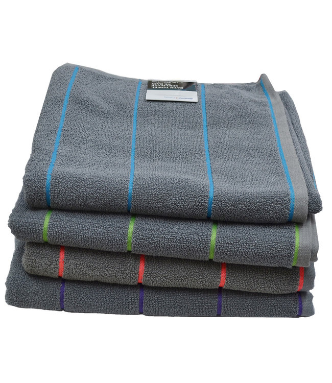 *WEFT STRIPE TOWELS AST