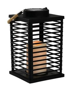 "LAUREN TAYLOR SOLAR POWERED GARDEN LANTERN 6X6X9"" (MP6)"