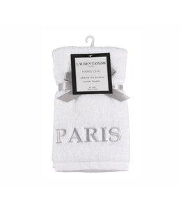 """LAUREN TAYLOR PARIS CHIC GUEST TOWEL 16X20"""" (MP12)"""