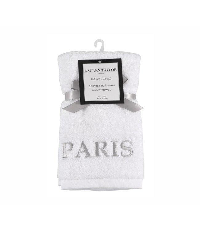 "LAUREN TAYLOR PARIS CHIC GUEST TOWEL 16X20"" (MP12)"