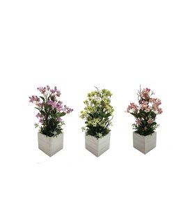 "LAUREN TAYLOR ARTIFICIAL FLOWERS IN WOOD BOX (MP8) 5X5X16.5"""