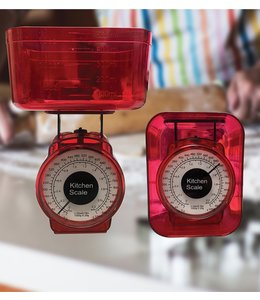 A LA CUISINE KITCHEN MECHANICAL SCALE (MP12) RED OR GREEN