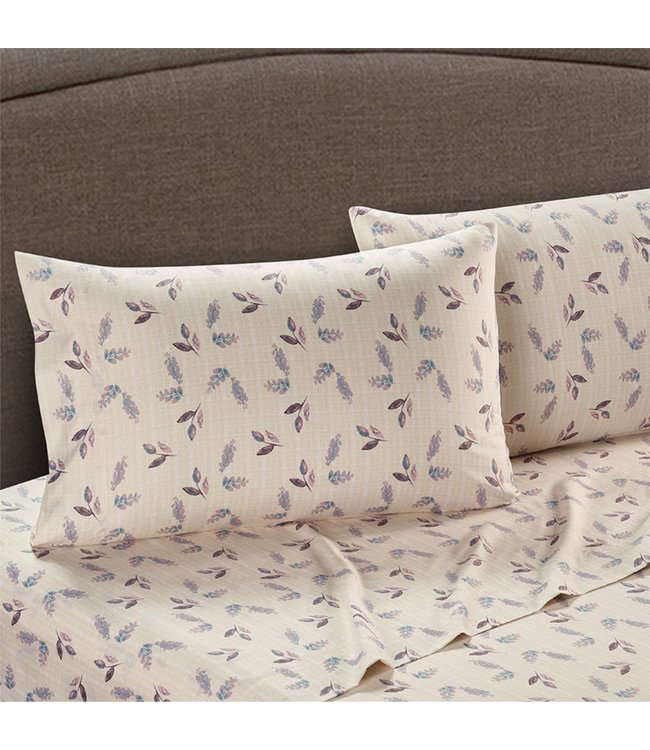 LAUREN TAYLOR ANNISTON MICROFIBER SHEET SET PASTEL (MP4)