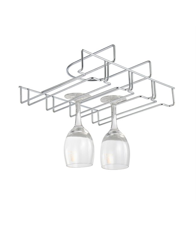 "A LA CUISINE UNDER SHELF WINE GLASS HOLDER 12X9.9X3.5"" (MP6)"