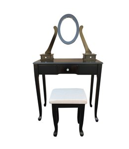 MAISON CONDELLE *WOOD VANITY SET w/CUSHIONED STOOL (MP1)