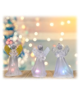 "HOLIDAY LED ANGELS WHITE 2.25X1.75X4.25"" (MP32)"