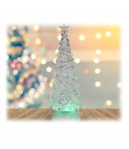 "HOLIDAY LED COLOUR CHANGING GLITTER TREE WHITE 4X12"" (MP8)"