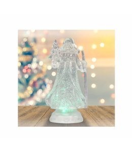 "HOLIDAY LED COLOUR CHANGING SANTA CLAUS WHITE 10"" (MP8)"